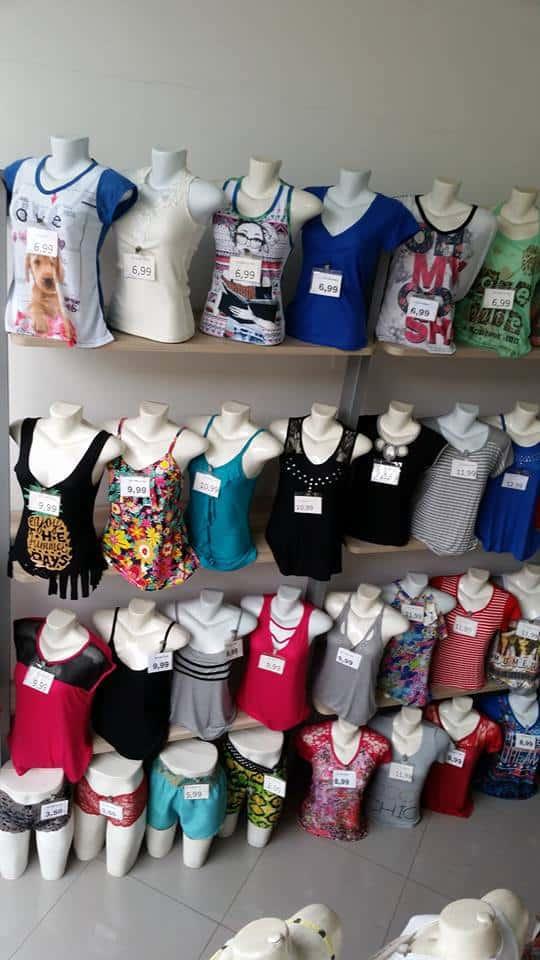 Atacado de blusas femininas modinha baratas para lojas de preço único