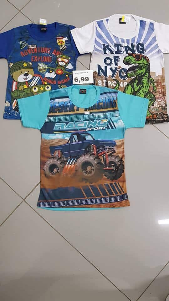 Camiseta infantil para revenda direto da fábrica