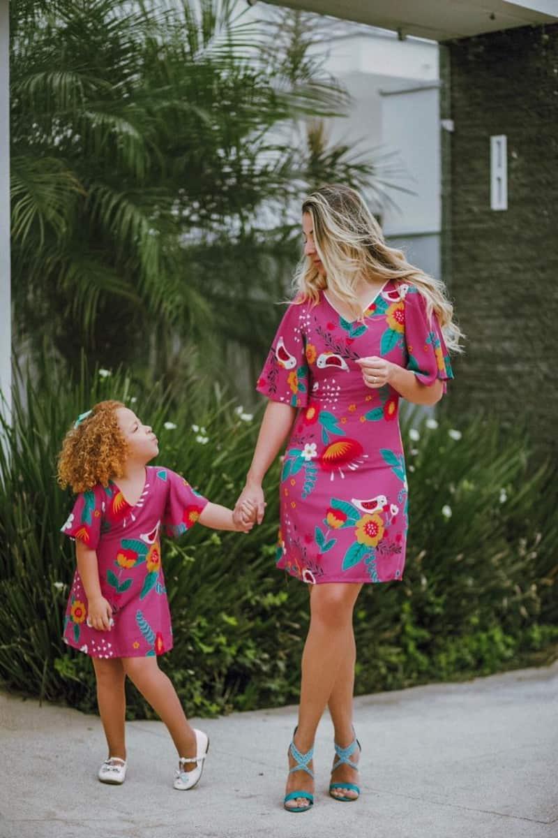 Moda mãe e filha para revenda