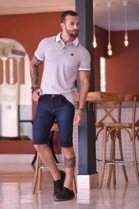 Bermuda jeans masculina no atacado