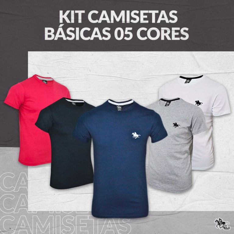 Camisetas multimarcas no atacado