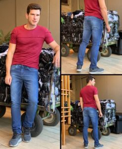 Jeans no atacado no Brás