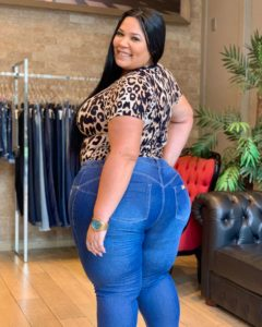 Jeans plus size no Brás