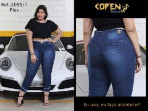 Jeans plus size no Brás
