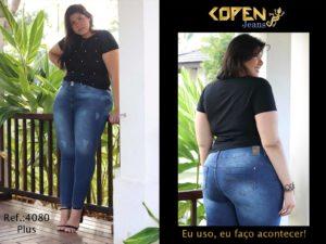 Jeans plus size feminino