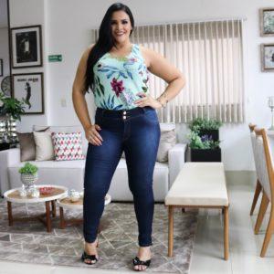 Jeans de tamanhos grandes no atacado