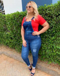 Macacão jeans plus size atacado Brás