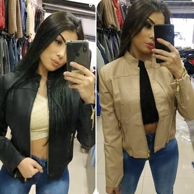 Lojas do Brás que vendem jaquetas de couro femininas